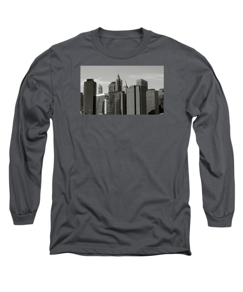 Long Sleeve T-Shirt featuring the photograph New York City by Helen Haw