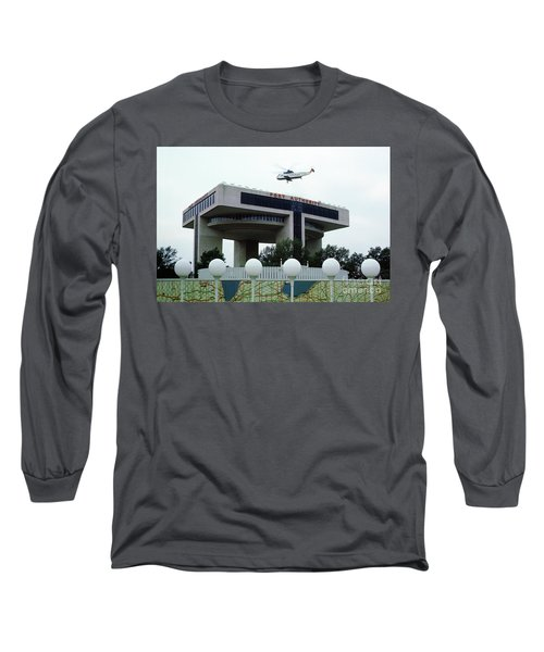New York City Port Authority Helicopter Pad, New York World's Fa Long Sleeve T-Shirt by Photovault