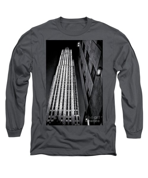 New York City Sights - Skyscraper Long Sleeve T-Shirt by Walt Foegelle