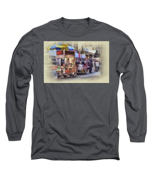 New York City Vendor Long Sleeve T-Shirt by Dyle Warren