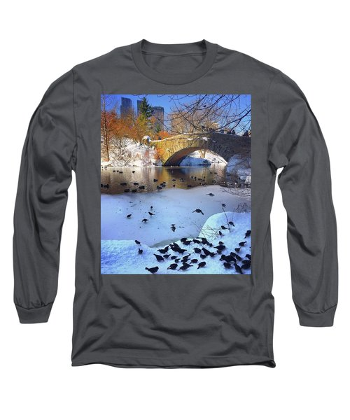 New York In The Winter Long Sleeve T-Shirt