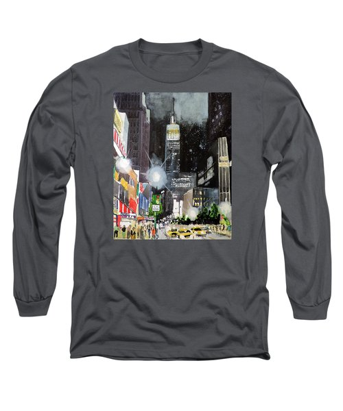 New York Night Long Sleeve T-Shirt by Tom Riggs
