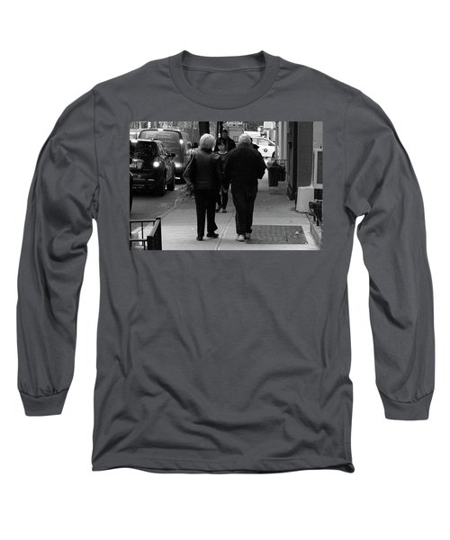 Long Sleeve T-Shirt featuring the photograph New York Street Photography 75 by Frank Romeo