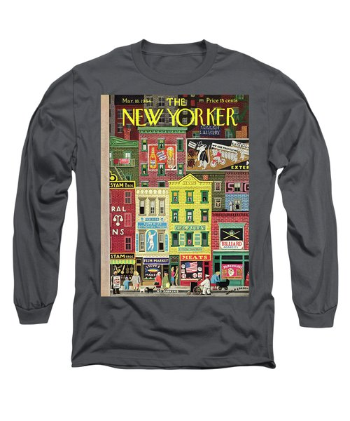 New Yorker March 18 1944 Long Sleeve T-Shirt