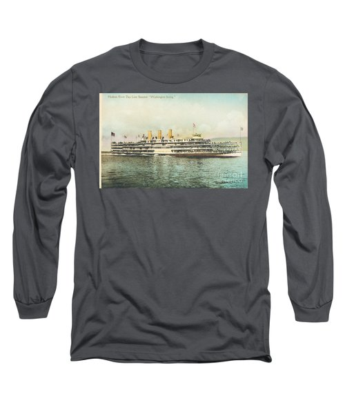 Newburgh Steamers Ferrys And River - 30 Long Sleeve T-Shirt