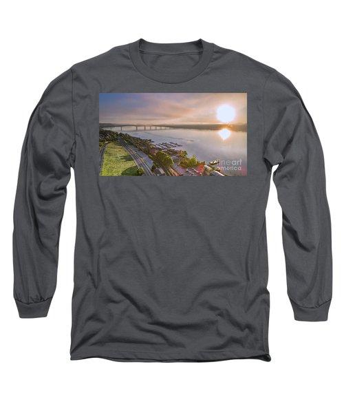 Newburgh Waterfront At Sunrise 3 Long Sleeve T-Shirt