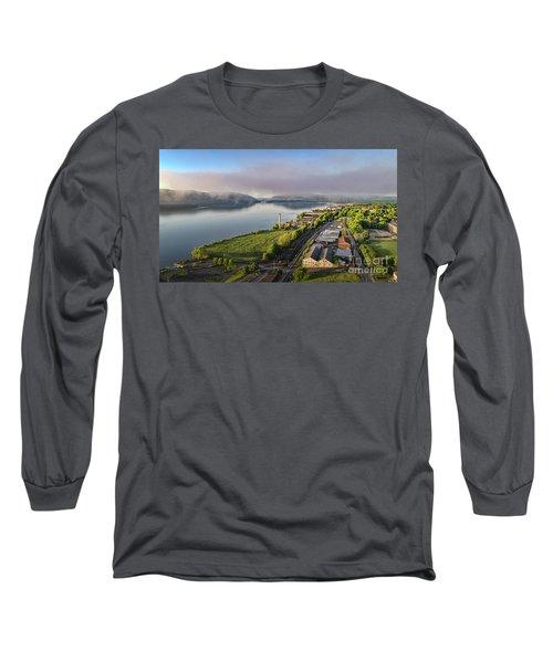 Newburgh Waterfront Looking South 2 Long Sleeve T-Shirt
