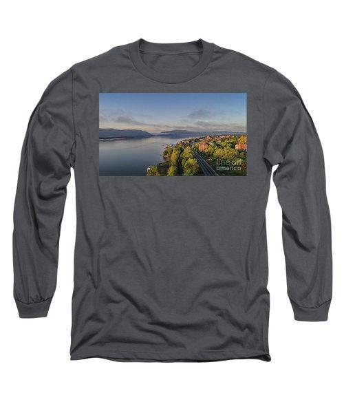 Newburgh Waterfront Looking South Long Sleeve T-Shirt