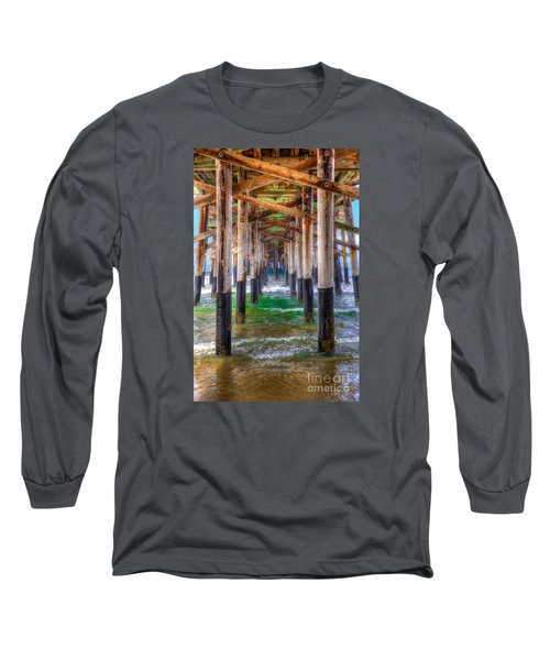 Long Sleeve T-Shirt featuring the photograph Newport Beach Pier - Summertime by Jim Carrell