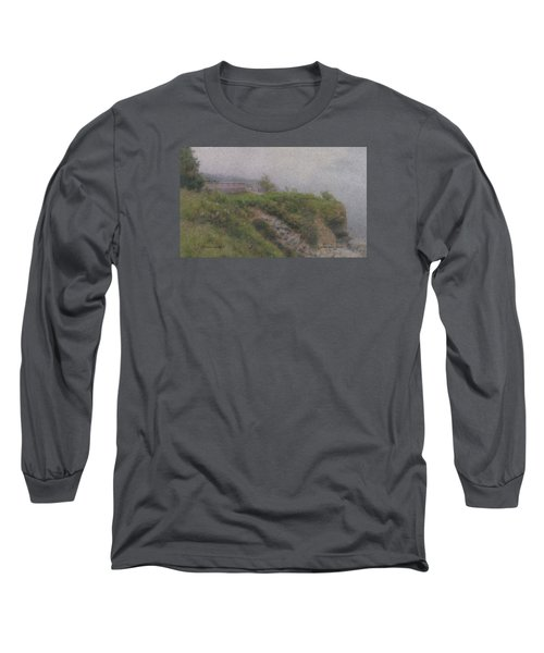 Newport Cliff Walk In The Fog Long Sleeve T-Shirt