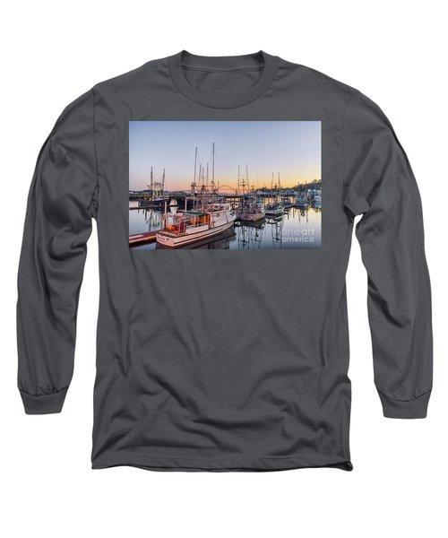 Newport Harbor At Dusk Long Sleeve T-Shirt