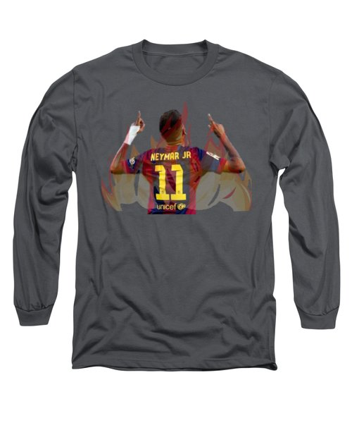 Neymar Long Sleeve T-Shirt by Vincenzo Basile