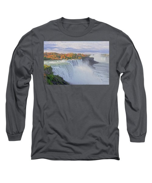 Niagara Falls In Autumn Long Sleeve T-Shirt