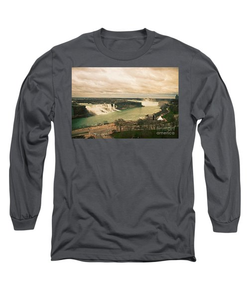 Long Sleeve T-Shirt featuring the photograph Niagara Falls by Mary Machare