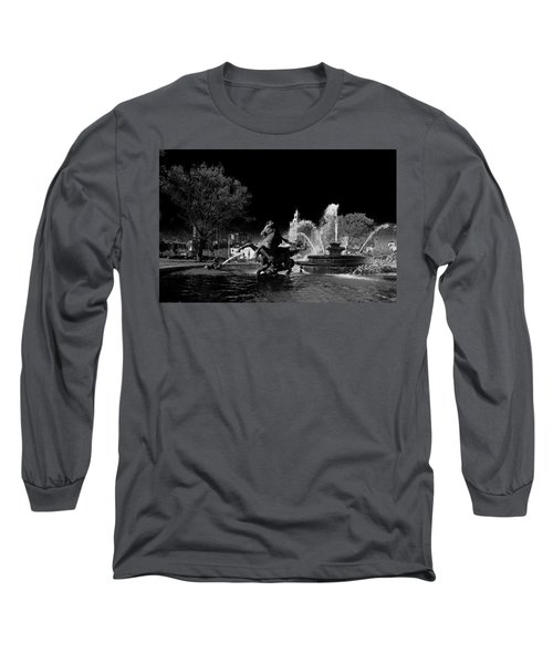 Long Sleeve T-Shirt featuring the photograph Nichols Fountain by Jim Mathis