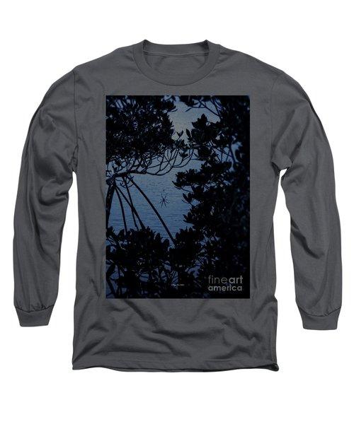 Long Sleeve T-Shirt featuring the photograph Night Banana Spider by Megan Dirsa-DuBois