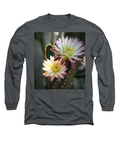 Long Sleeve T-Shirt featuring the photograph Night-blooming Cereus 3 by Marilyn Smith