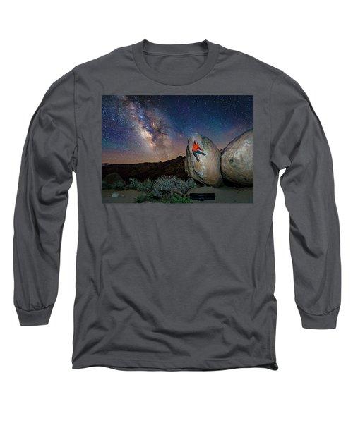 Night Bouldering Long Sleeve T-Shirt by Evgeny Vasenev