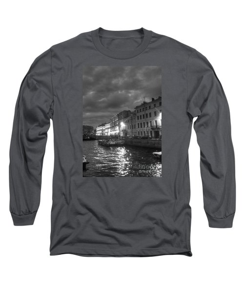 Night City Peterburg Long Sleeve T-Shirt by Yury Bashkin