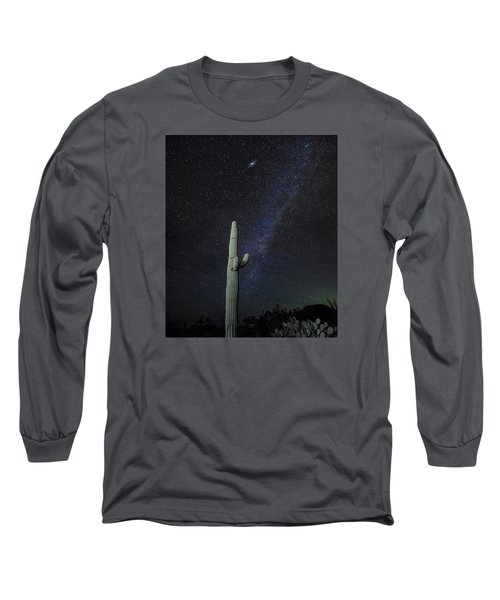 Long Sleeve T-Shirt featuring the photograph Night Desert Skies by Charles Warren
