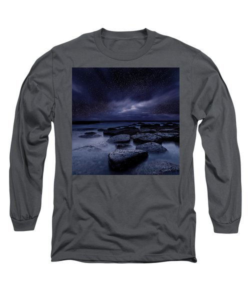 Night Enigma Long Sleeve T-Shirt by Jorge Maia