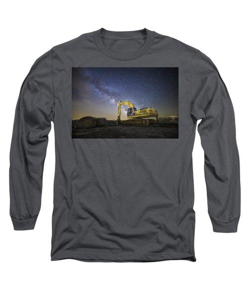 Night Excavation  Long Sleeve T-Shirt