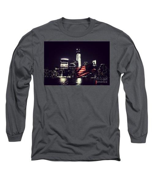 Night Flag Long Sleeve T-Shirt