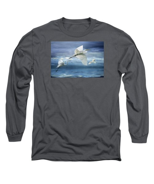 Long Sleeve T-Shirt featuring the photograph Night Flight by Brian Tarr