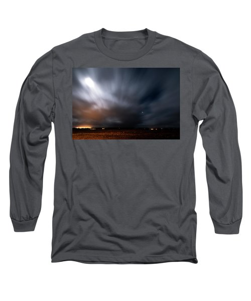 Long Sleeve T-Shirt featuring the photograph Night In Iceland by Dubi Roman