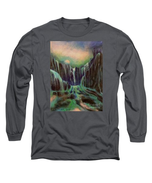 Long Sleeve T-Shirt featuring the painting Night Of The Fall  by Alison Caltrider