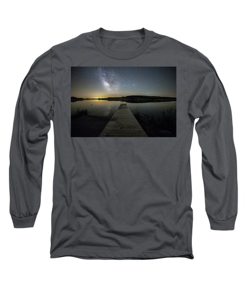 Long Sleeve T-Shirt featuring the photograph Night On The Dock by Aaron J Groen
