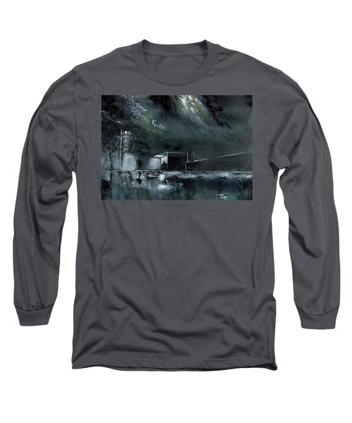 Long Sleeve T-Shirt featuring the painting Night Out by Anil Nene