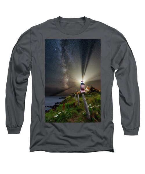 Night Over West Quoddy Long Sleeve T-Shirt
