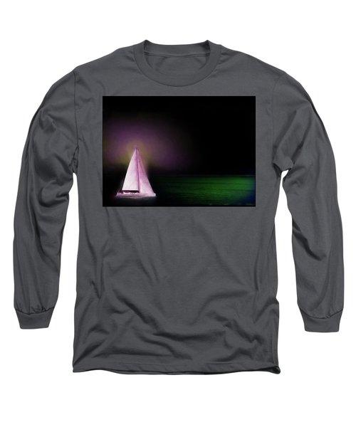 Night Sailing Long Sleeve T-Shirt by Michael Cleere