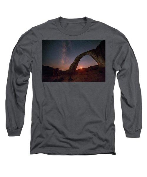 Night Sky At Corona Ach Long Sleeve T-Shirt