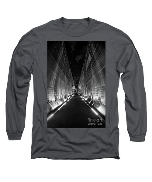 Night Time At Empty Sky Memorial Long Sleeve T-Shirt
