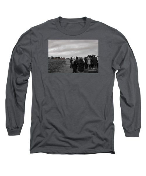 Long Sleeve T-Shirt featuring the photograph Night Vision Ghost Story In Bradgate Park. by Linsey Williams
