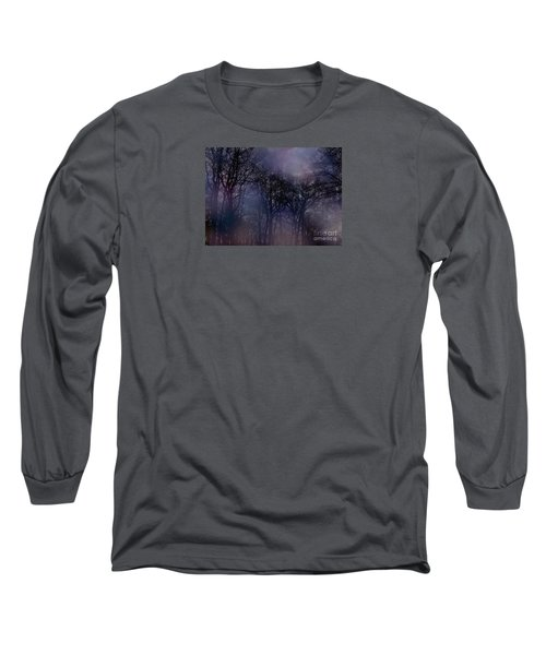 Nightfall In The Woods Long Sleeve T-Shirt by Sandy Moulder
