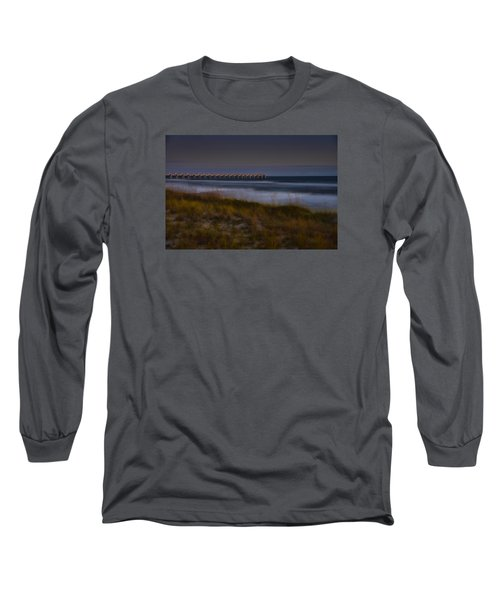 Long Sleeve T-Shirt featuring the photograph Nightlife By The Sea by Renee Hardison