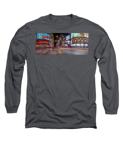 Long Sleeve T-Shirt featuring the photograph Nights On Broadway by Az Jackson