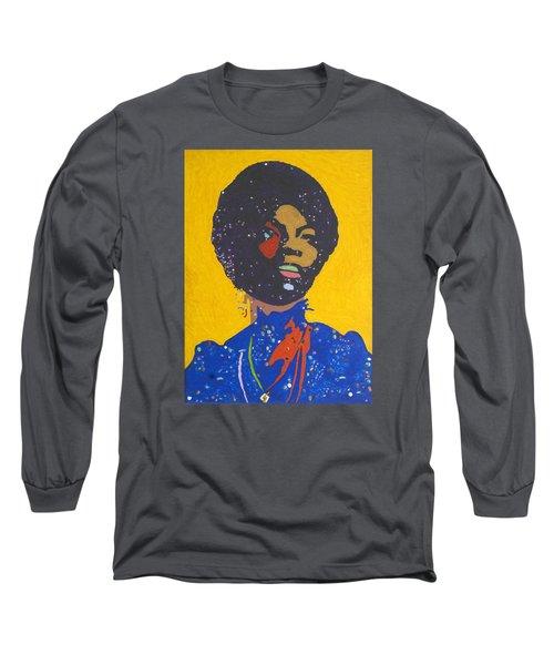 Nina Simone Long Sleeve T-Shirt by Stormm Bradshaw