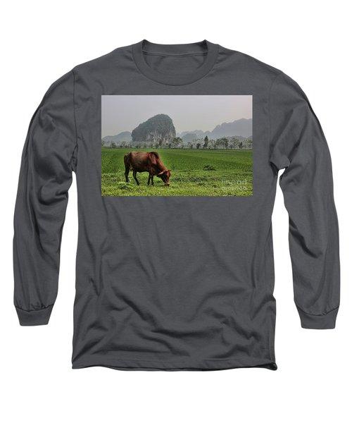 Ninh Binh Reserve  Long Sleeve T-Shirt by Chuck Kuhn
