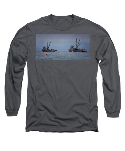 Long Sleeve T-Shirt featuring the photograph Nita Dawn And Cape George by Randy Hall