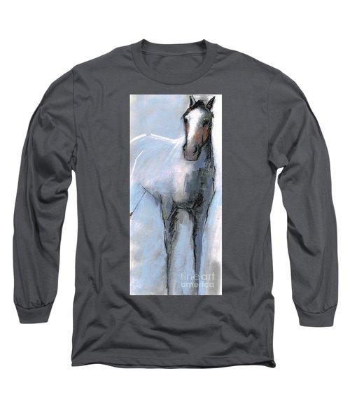 Nm Sketch Bw Long Sleeve T-Shirt by Frances Marino