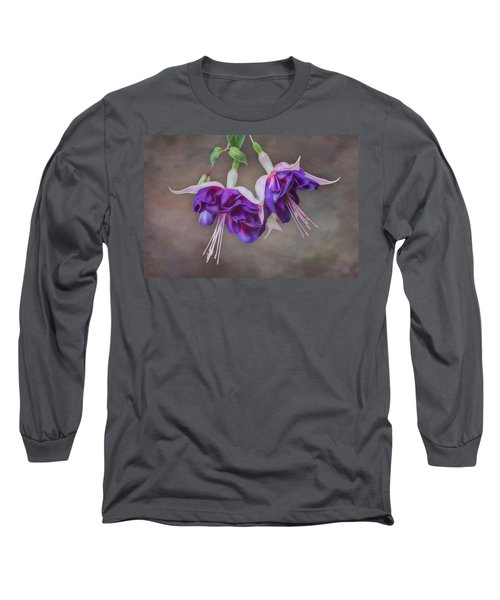 Purple Fuchsia Long Sleeve T-Shirt