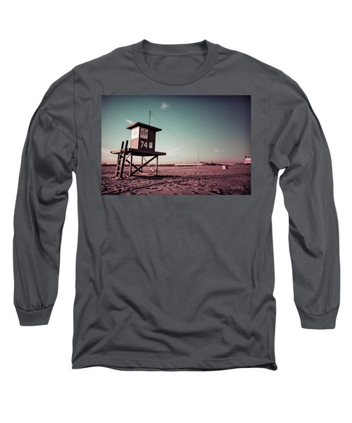 Long Sleeve T-Shirt featuring the photograph No Lifeguard On Duty by Joseph Westrupp