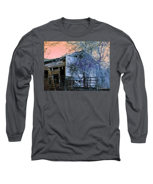 Long Sleeve T-Shirt featuring the photograph No Ordinary Barn by Betty Northcutt