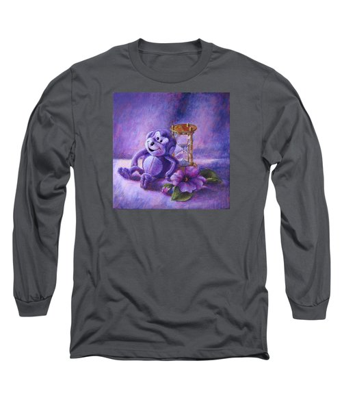 No Time To Monkey Around Long Sleeve T-Shirt by Retta Stephenson