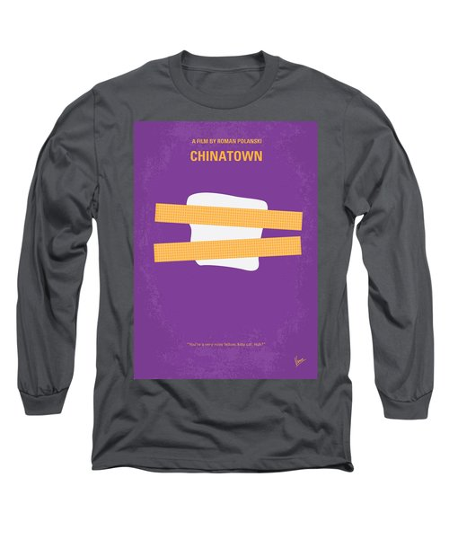 No015 My Chinatown Minimal Movie Poster Long Sleeve T-Shirt by Chungkong Art