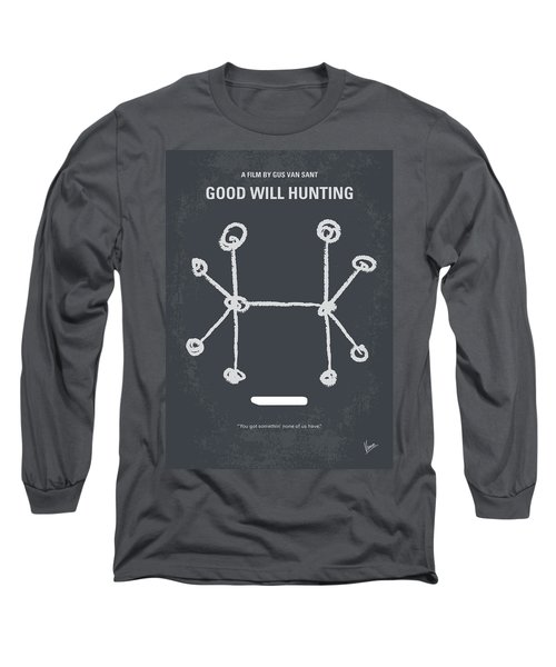 No461 My Good Will Hunting Minimal Movie Poster Long Sleeve T-Shirt by Chungkong Art